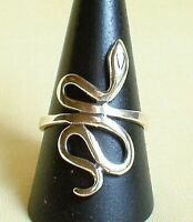 Snake Ring Sterling Silver Serpent Knowledge Wisdom Wicca Pagan Sacred Magic