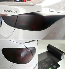 "12"" x 60"" Car Headlight Taillight Vinyl Wrap Film Fog Tint Light Matte Black CF"