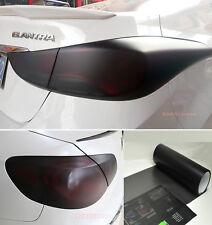 12 X 60 Car Headlight Taillight Vinyl Wrap Film Fog Tint Light Matte Black Cf