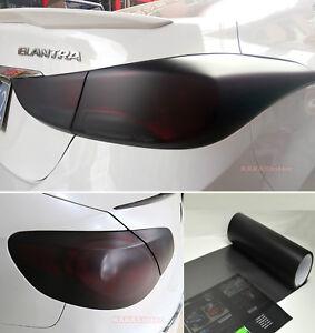 "12"" x 60"" Car Headlight Taillight Vinyl Wrap Film Fog Tint Light Matte Black CF"
