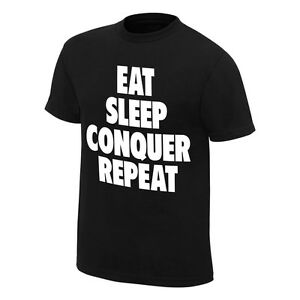 """Official WWE - Brock Lesnar """"Conquer"""" Special Edition Authentic T-Shirt"""