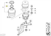 BMW Power Steering Oil ATF Reservoir Cap Seal o-ring 1128333 32411128333