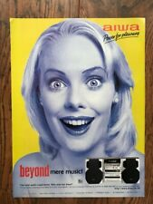 Rare Vintage Original 90's UK Magazine Advert Ad 1998 AIWA HiFi Stereo