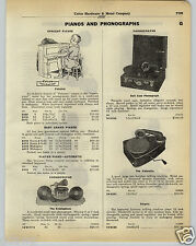 1930 PAPER AD Pigmyphone Toy Record Player Phonograph Valoretta Kiddiephone