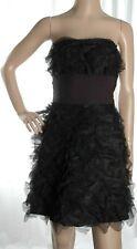 Designer BETSEY JOHNSON black frilly bandeau dress size 8 UK