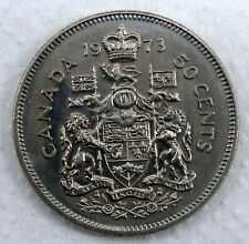 CANADA 1973 - 50 CENT - Alloy: 100% nickel, Mintage 2,546,096