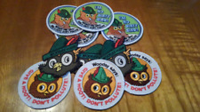 New Woodsy Owl designed embroidered patch set - 3 different patches