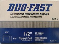 """STAPLES DUO-FAST  1/2"""" CROWN (2-PACK) - 5/8"""" LEG LENGTH CHISEL POINT, 6520 CR"""