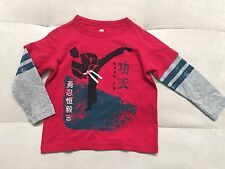 New Baby Boy Tea Shirt Size 18-24 Month Cotton Red Kung Fu