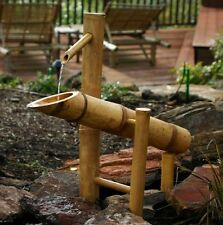 Bamboo Fountain Spout Pump Rocking Garden Decor Water Indoor Outdoor Decoration