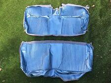 1964 CHEVY IMPALA SS CONVERTIBL REAR BENCH SEAT COVER- LIGHT BLUE VINYL #64BS56V