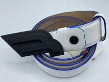 $425 Bally White Leather Belt Adjustable All Sizes Made in Italy