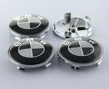 New 4pcs Carbon Fiber 68mm Hub Center Caps Wheel Emblem Logo Badge FOR BMW