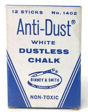 Vintage Unused Crayola Anti-Dust White Dustless Chalk NOS Binney & Smith #1402