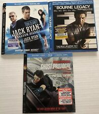 Lot Of Bluray Slipcovers (Bourne legacy, Jack Ryan, Mission Impossible) Canadian