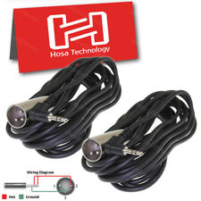 2-Pack Hosa 15ft Right Angle Microphone Cable 3.5mm Trs to Xlr Male Camera Wire