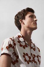 Matinique Trostol Flower Bowling Shirt/Spice - Medium New High Summer 2018