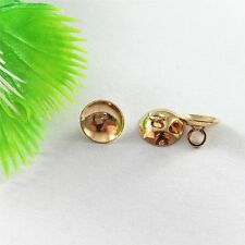 51637 Gold Plated Iron Metal Beads Cap Pendant Charms Jewelry Accessory 100pcs