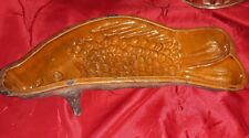 Superbe rare ancien Moule en terre cuite XIXème,forme poisson Alsace 40 cent.