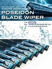 "POSEIDON Blade Windshield Wiper 24"" 20"" PAIR 1SET For Hyundai KIA Vehicles"