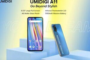 "UMIDIGI A11 3GB 64GB Global Version Android 11 Smartphone Helio G25 6.53""16MP AI"