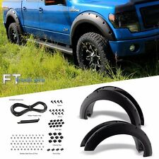 [TEXTURED] 2009-2014 Ford F150 Pocket Riveted Fender Flares Cover Trim Paintable