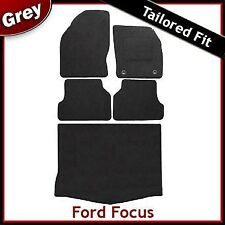 Ford Focus Mk2 Hatchback 5-Door 2004-2011 Tailored Carpet Car & Boot Mats GREY