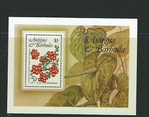 Antiqua/Barbuda Sc 759 Ss Local Flowers
