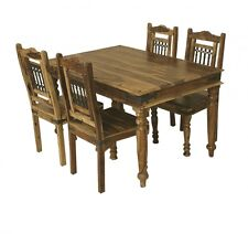 Jali Solid Sheesham Indian Rosewood 1.35 CM Dining Table & 4 Chairs / Dining Set