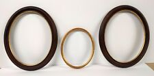 3 Vintage  Oval Picture Frames Made in Italy with leafing 2-11 X 14 &1 8 X 10