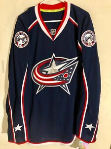 Reebok Authentic NHL Jersey Columbus Blue Jackets Team Navy sz 54