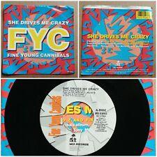 """New ListingFine Young Cannibals She Drives Me Crazy 45 7"""" Pop Rock Vinyl Record 1988 I.R.S."""