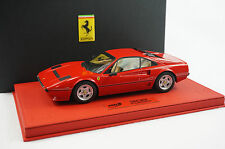 1/18 BBR FERRARI 208 GTB TURBO ROSSO CORSA RED DELUXE LEATHER BASE LE 10 PC MR