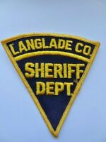 Vintage Langlade co Wisconsin Sheriff Department Police Cheese Cloth Patch Used