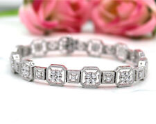 4.75Ct Sparkle Diamond Classic Tennis Bracelet Round-Cut 925 Sterling Silver