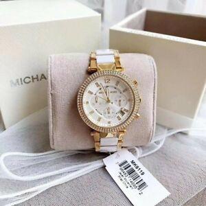 Michael Kors Parker White Chronograph Watch MK6119
