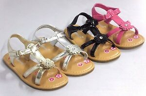 Girl Dress Sandals Strappy Gladiator (275k) TODDLER Black Gold Silver Fuchsia