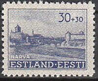 Stamp Germany Estland Mi 06 Sc NB3 1941 WWII EESTI Estonia Occupation Narva MNH