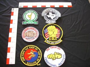 Martial Arts patch collection, 6 patches in set