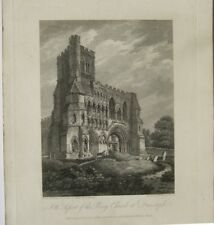 N W aspect of the Priory Church at Dunstaple (published Jan.1,1803)