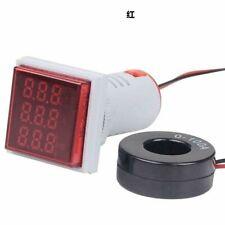 Digital LED Panel Mount AC 60 ~ 500V 100A Voltios Voltímetro Amperímetro AMP pantalla dual.