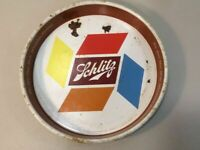 Vintage Schlitz Beer Tin Serving Tray From The 1950's Bar Advertising J8
