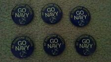 (6) Vintage Be Someone Special Go Navy Pinback Button Lot
