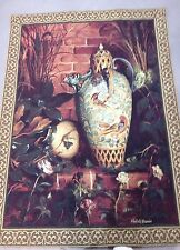 "Wall Hanging Tapestry Pottery Elizabeth Brandon 52""x40""  Pocket for Hanging"