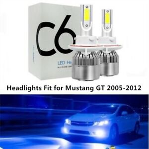 Pair LED Headlight Kit H13 9008 8000K Hi/Low Bulb for FORD Mustang GT 2005-2012