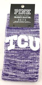 Victoria's Secret PINK Texas Christian University Purple Collegiate Crew Socks