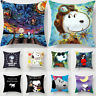 Home Decor Cute Snoopy Pillow Case Car Bedroom Sofa Dog Pillowcase Cushion Cover