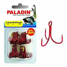 Paladin BIG BAG Laserdrillinge Rot 15 Stk. Gr. 1/0 Drilling Angel-Haken