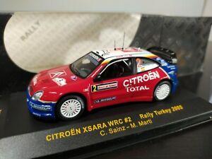 1/43 IXO RAM197 Citroën Xsara WRC Sainz Rally Turkey 2005 Rallye Sport