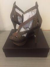 BEBE 'Sienna' Platform High Heel Size 10 Bronze New in Box